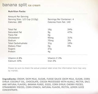 Banana split regular