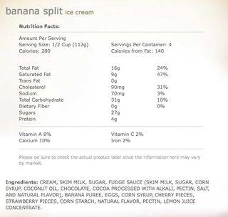 Banana split regular
